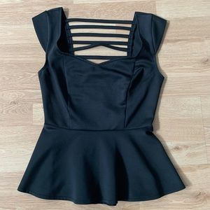 Wet Seal Peplum  Blouse